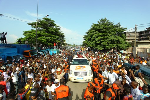 Visite du chef d'état à Bouaké