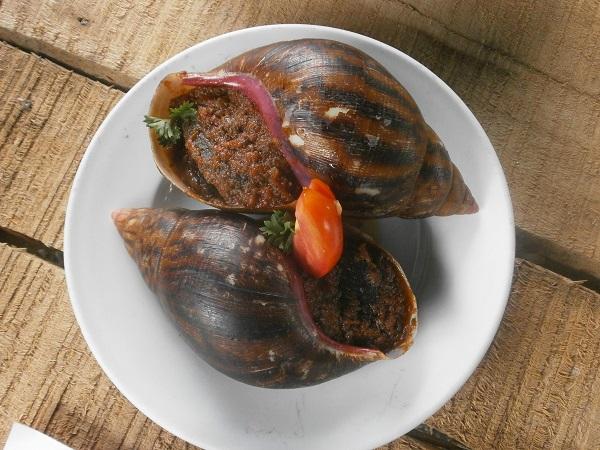 Escargot cuit à la vapeur