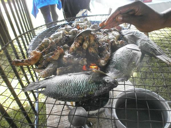Poulet ou poisson braisé